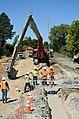 Quality checking River Park seepage cutoff wall (15035759622).jpg