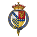 Quartered arms of Sir Thomas Stanley, 1st Earl of Derby, KG.png