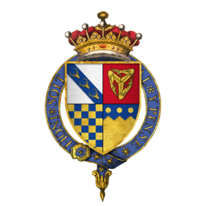 Thomas Stanley, 1st Earl of Derby - Quartered arms of Sir Thomas Stanley, 1st Earl of Derby, KG
