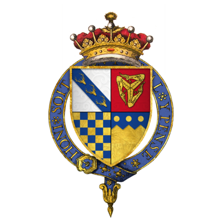 Quartered arms of Sir Thomas Stanley, 1st Earl of Derby, KG Quartered arms of Sir Thomas Stanley, 1st Earl of Derby, KG.png