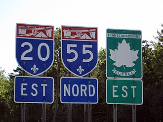 Quebec Autoroute 55 - Image: Quebec Autoroutes 20 55 Trans Can