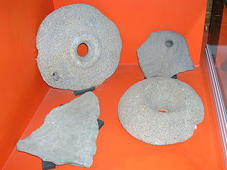 Quern-stone - Querns from the Whithorn Museum