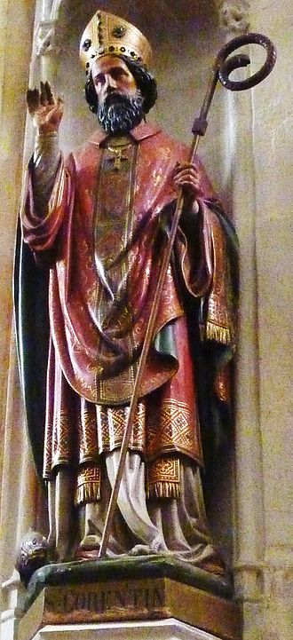 Quimper Cathedral - Statue of Saint-Corentin in Saint-Corentin cathedral, Quimper