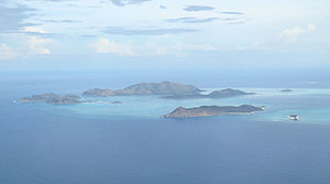 Ploning - An aerial view of the Cuyo archipelago.