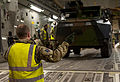 RAF Loading French Vehicle on C17 for Mali Mission MOD 45155002.jpg