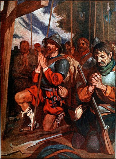 ROHM D195 The conquistadors pray before entry to tenochtitlan.jpg