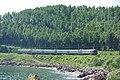 RZD ER9M-563 Ulan-Ude - Sludyanka, Baikal shore. Circum-Baikal Railway (32467660996).jpg