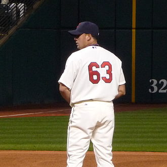 Rafael Betancourt - Pitching with the Indians in 2009