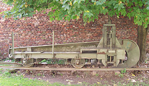 Railroad plough - Railroad plough from Military museum in Belgrade. The hook can be raised for transportation or lowered for track destruction.