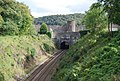 Railway goes under the town walls, Conwy - geograph.org.uk - 1479419.jpg