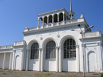 Abkhazian railway - Sukhumi railway station, the biggest in Abkhazia.