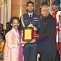 Ram Nath Kovind presenting the Sangeet Natak Akademi's Fellowships (Akademi Ratna) and Sangeet Natak Akademi Awards (Akademi Puraskar) for the year 2016, at the investiture ceremony, at Rashtrapati Bhavan, in New Delhi (4).jpg