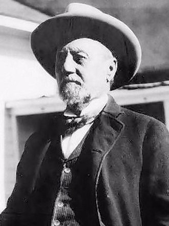 Billy the Kid - Henry Hooker, one-time employer of Billy the Kid, at his Sierra Bonita Ranch in southeast Arizona