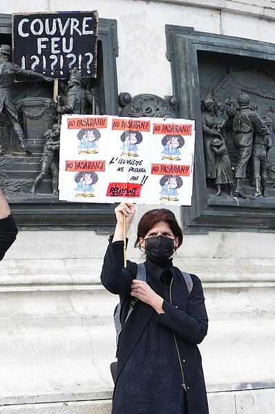 File:Rassemblement Samuel Paty le 18 oct 2020 Place de la République Paris pancarte.jpg