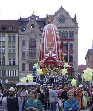 Indians in Poland - Ratha Yatra festival organised by the New Navadvip Temple in Wrocław in 2010