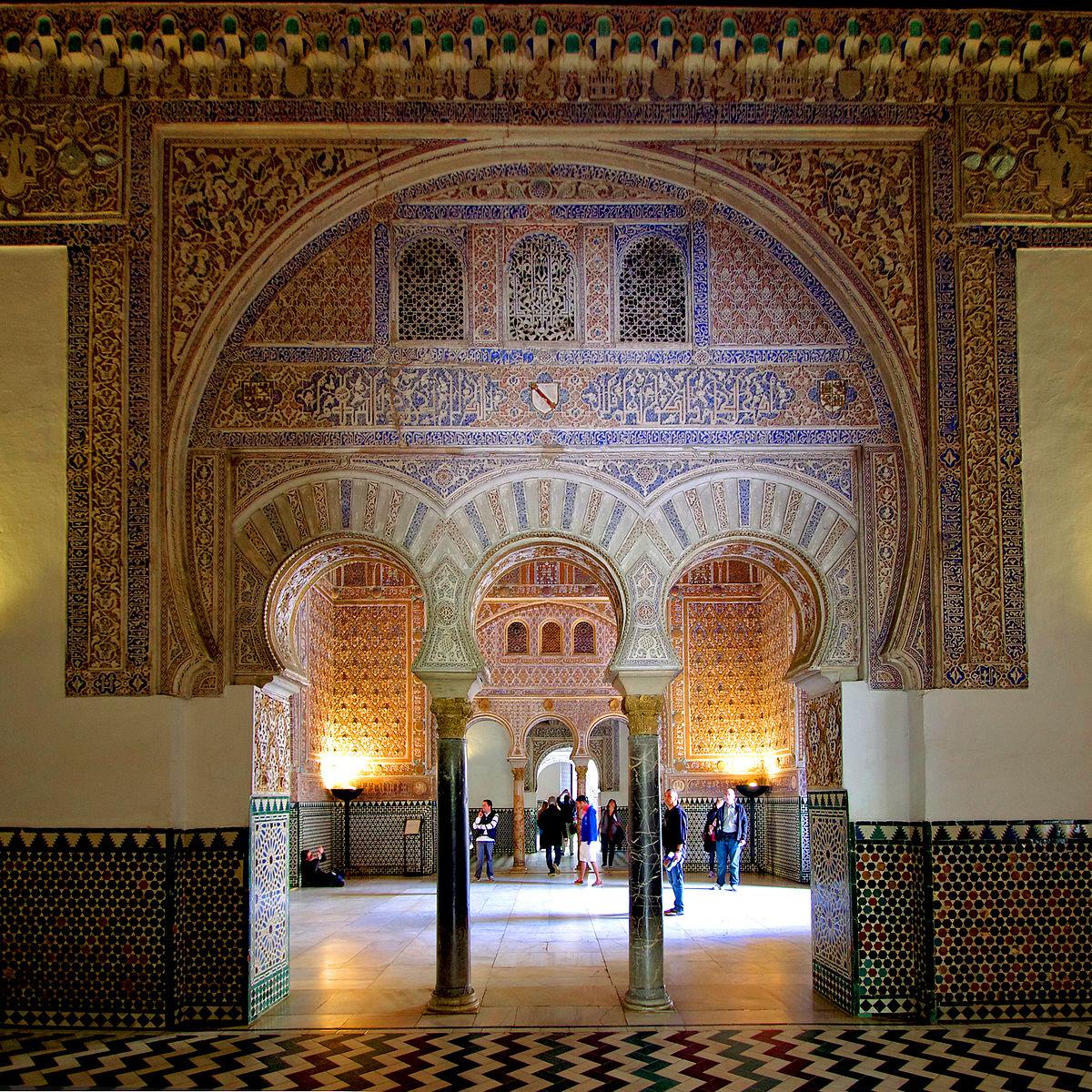 Datei:Reales Alcázares de Sevilla - Salón de Embajadores.jpg ...