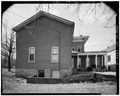 Rear view-looking west - Anderson House, 3678 Belmont Street, Bellaire, Belmont County, OH HABS OHIO,7-BEL,4-3.tif