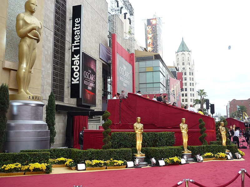 Academy Awards red carpet outside the Kodak Theatre