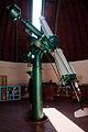 Refractor Telescope in Volgograd Planetarium Observatory.jpg