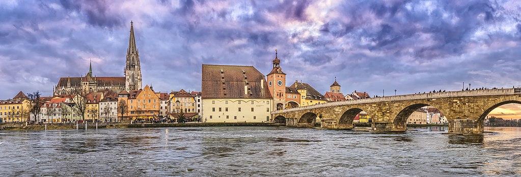 Altstadt von Regensburg Panorama (UNESCO-Weltkulturerbe)