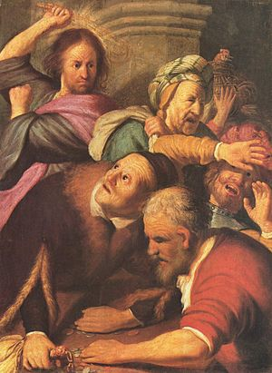 Christ Driving the Moneychangers from the Temp...