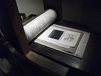 Edition (printmaking) - Rembrandt House Museum, printing studio