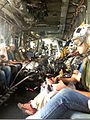Reporters fly aboard a U.S. Navy MH-53E Sea Dragon helicopter attached to Helicopter Mine Countermeasures Squadron (HM) 15 during International Mine Countermeasures Exercise (IMCMEX) 13 in Bahrain May 14, 2013 130514-N-UT397-018.jpg