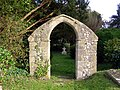 Restored arch from the old Norman church, Ovington - geograph.org.uk - 271155.jpg