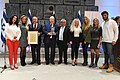 Reuven Rivlin awarding the «President's Award for Education for Partnership» for 201617, November 2017 (1670).jpg