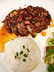 Rice with Pork Steak Namtok.JPG