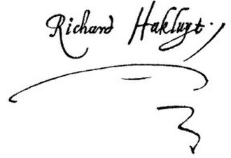 Richard Hakluyt - Image: Richard Hakluyt Divers Voyages 1582 signature