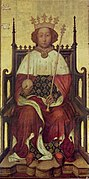 Oil-on-panel portrait of Richard II of England, mid-1390s