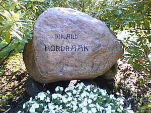 Rikard Nordraak - Rikard Nordraak's grave stone in Vår Frelsers gravlund in Oslo
