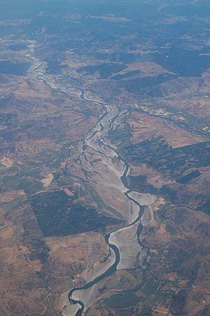 Maule River - Aerial view of the Maule River