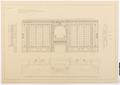 Ritning till stora salongens fönstervägg, Hallwylska palatset - Hallwylska museet - 101135.tif