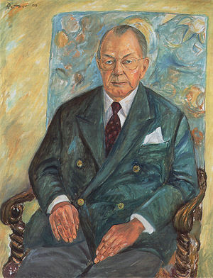 Friedrich Wilhelm, Prince of Hohenzollern - Portrait by Günter Rittner, 2003.