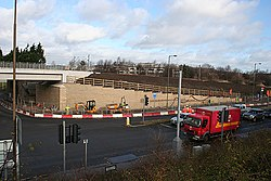 Roadworks on Bankhead Drive (geograph 3332448).jpg