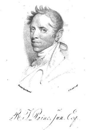 Robert Treat Paine Jr. - Paine as shown in The Works, in Verse and Prose... published 1812
