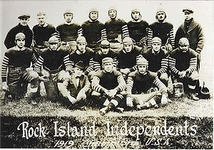 1920 Rock Island Independents season - Team photograph of the 1919 Rock Island Independents, when the team claimed the USA Championship.