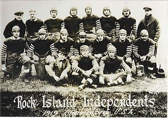 "Rock Island Independents - Rock Island Independents 1919 ""Champions of the USA"""