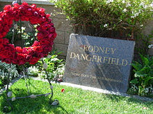 Rodney Dangerfield's humorous tombstone at Pierce Brothers Westwood Memorial Park Cemetery.