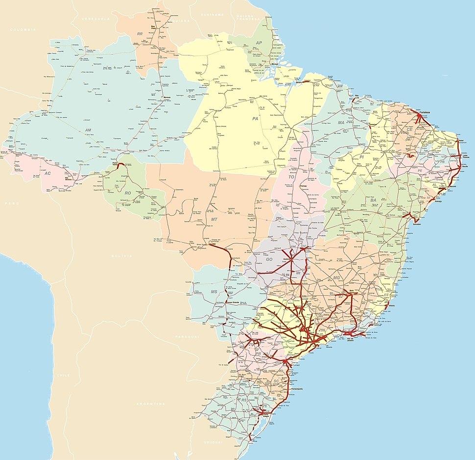 Rodovias Duplicadas do Brasil, Junho de 2019