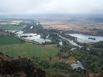 Course of the Rogue River (Oregon) - View of the river from Lower Table Rock