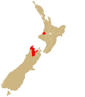 Ngāti Tama - Image: Rohe Ngati Tama