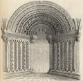 Románský portal chrámu někdy Benediktinského P. Marie v Třebíči v Moravě.png