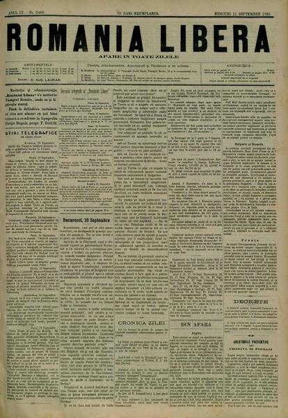 File:România liberă 1885-09-11, nr. 2439.pdf