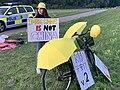 Romina Pourmokhtari demonstrating outside of China's embassy in Stockholm, Sweden.jpg