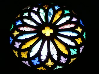 Basilica of Our Lady of Dolours, Thrissur - Image: Rose window
