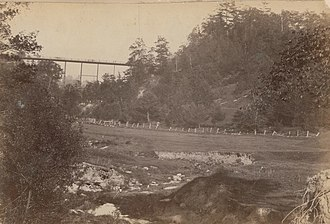 Sherbourne Street, Toronto - Image: Rosedale Ravine with Sherbourne Street bridge