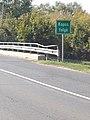 Route 611, Kapos river name sign, 2018 Dombóvár.jpg